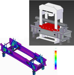 Hydraulic Press support Frame FEA_Stress